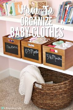 How To Organize Baby Clothes- simple guide to keep baby clothes organized and rotated