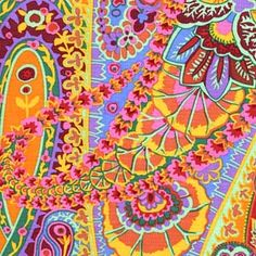 Kaffe Fassett Paisley Jungle Tan
