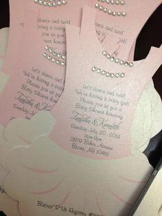 SAMPLE Tutu invitation flat - Ballerina - invitation