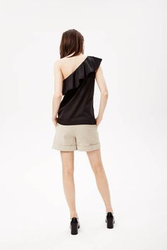 Theory's cotton one shoulder top.