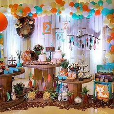 Best baby first birthday party ideas winter Ideas Girl Birthday Themes, Boy First Birthday, First Birthday Parties, Birthday Decorations, First Birthdays, Fox Party, Baby Party, Festa Pow Wow, Baby Shower Themes