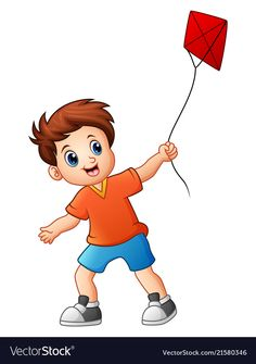 Cute boy playing kite vector image on VectorStock Painting For Kids, Drawing For Kids, Police Officer Crafts, Kites Craft, Baby Boy Dress, Dog Coloring Page, First Fathers Day Gifts, Boy Illustration, Cat Stands