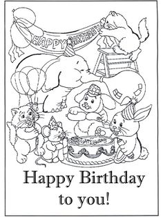 Print out one of these Birthday card coloring pages to color and ...