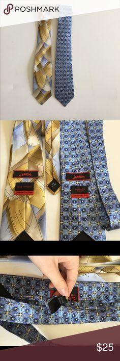 J.Garcia Tie Bundle Two ties  One from Guinea Pig Angust Collection Fifty Four  Other from Space Containers Collection Fifty Three Collectors edition jerry garcia Accessories Ties