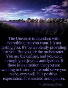 The universe is abundant