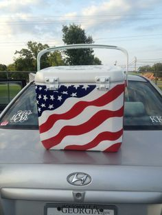 USA painted coolers