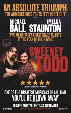 Sweeney Todd Michael And Imelda Repro Poster 12 5x20 inches
