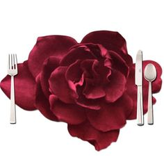 Red rose #placemat for table #decorations is printed both sides, coated and made out of 300gr art print paper. You can place hot plates up to 80°C on it and clean it up with a wet cloth.  Size 50x39cm.   https://www.rosemarie-schulz.eu/en/placemats/435-red-rose-placemat.html