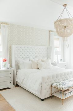 Step inside Monika Hibbs dreamy white bedroom redesign with us today! Home Interior, Interior Design, Asian Home Decor, Suites, My New Room, Beautiful Bedrooms, Home Decor Inspiration, Decor Ideas, Master Bedrooms