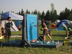 Hmm - giant Battleship would be much safer than giant Jenga... (Winnipeg Folk Fest, July 10 2013 | Leif Norman)