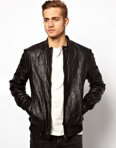 Asos leather jacket