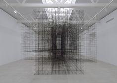 Antony Gormley occupies Parisian gallery with monumental metal sculptures.