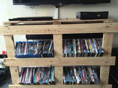Pallet DVD stand.  Nailed it ;)