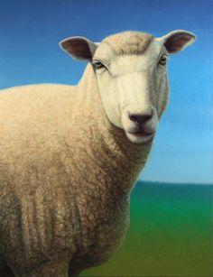 Portrait Of A Sheep Painting  - Portrait Of A Sheep Fine Art Print