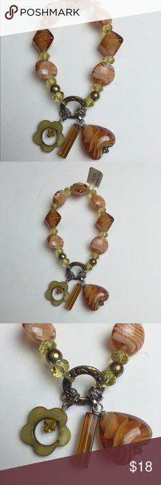 NWT Murano Glass Bracelet NWT Beautiful Murano Glass Bracelet. Perfect Colors For The Fall. Jewelry Bracelets