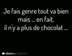 Chocolat Haha, Words Quotes, Sayings, French Quotes, Just Smile, Some Words, Sentences, Quotations, Funny Pictures