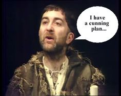 """A true jester!  From the Middle Ages through to the First World War, he was the faithful manservant whose cunning plans never elevated him beyond the status of whipping boy. But today Baldrick finally turns the tables on his tormentor Edmund Blackadder after the actor Tony Robinson was knighted in the Queen's Birthday Honours, while his """"boss"""" Rowan Atkinson had to settle for a CBE."""
