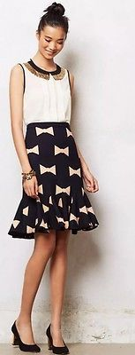 NEW-Anthropologie-Bowtie-Pencil-Skirt-By-Eva-Franco-Sz-6-168-Made-in-USA