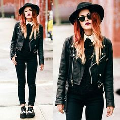 Luanna Perez.black on black outfit. Her style is just awe worthy!!!