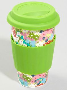 Spill-proof travel mug. Some coffee shops may give you a small discount for using your own mug, and they're often allowed in libraries