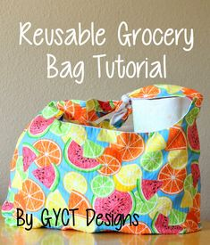 Get Your Crap Together: Reusable Grocery Bag PDF Pattern for Organize Me! Sizzlin' Summer
