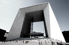 La Grande Arche in Paris, designed by the Danish architect Johan Otto von Spreckelsen