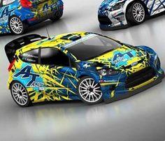 ra P-G Andersson's car ready for Rally d'Italia Sardegna