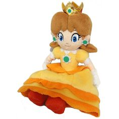 "Super Mario 7.5"" Princess Daisy Plush Toy 