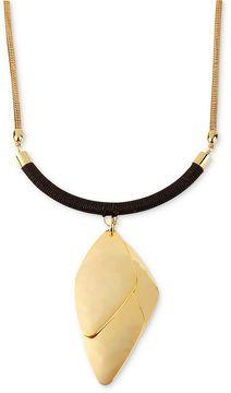 Robert Lee Morris Necklace, Gold-Tone Hammered Geometric Pendant Necklace on shopstyle.com