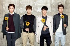 CNBlue 씨엔블루: Code Name Blue  Burning: Lee Jong Hyun  Lovely: Kang Min Hyuk Untouchable: Lee Jung Shin Emotional: Jung Yong Hwa