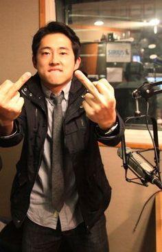 Steven Yeun, aka Glenn, The Walking Dead
