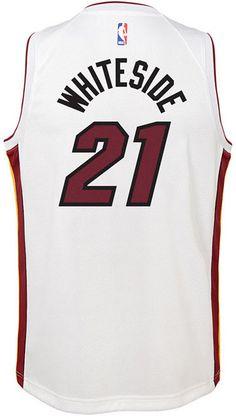 c63e33bb Nike Hassan Whiteside Miami Heat Association Swingman Jersey, Big Boys  (8-20)