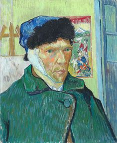 Vincent van Gogh (1853 – 1889) Self-Portrait with Bandaged Ear, 1889, Oil on canvas, 60.5 x 50 cm, © The Courtauld Gallery, London