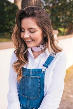 Vince Loafers, Madewell Overalls, Hello It's LOH, Lejla Hasanovic, J.Crew Button Up, Blush Loafers, Atlanta Blogger, Casual ootd