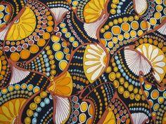 vintage textiles | Retro Age Vintage Fabrics: Psychedelia, man! Trippy vintage fabric