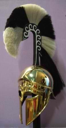 Beautiful replica of a high-crested Corinthian helmet
