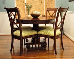 How To Reupholster Dining Room Chairs   Easy Peasy!