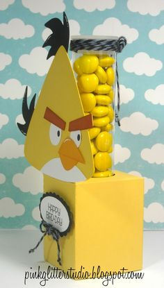 Angry Bird Candy Tube Holder from SVG Cutting Files