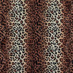 Pels camel/sort imiteret leopard - STOFF & STIL