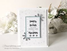 Snowy and Colorless Card - Flourishtina Silver Paper, Tiny Heart, Good Cheer, Quote Prints, I Fall In Love, Flourish, Happy New, Place Card Holders, Joy
