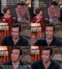 Little Joe's job description. From The Actress (Bonanza)