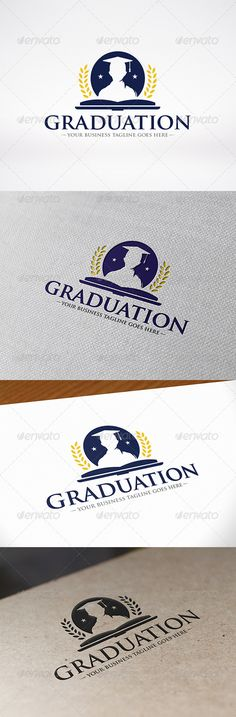 University Graduation Logo Template — Vector EPS #university logo #ubication • Available here → https://graphicriver.net/item/university-graduation-logo-template/8626072?ref=pxcr