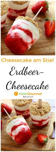 Schritt-für-Schritt-Anleitung für Erdbeer-Cheesecake am Stiel