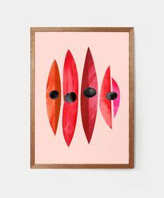 "This is a fine art print from the original ""Sturt's Desert Pea"" Artwork by Pete Cromer. Cromer, Australian Art, Pigment Ink, Illustrators, Flora, Deserts, Abstract Art, Arts And Crafts, Fine Art Prints"