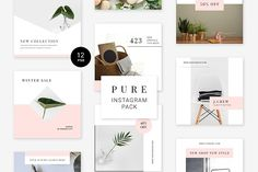 Pure Instagram Pack by Swiss_cube on @creativemarket
