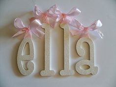 GLITTER and SPARKLE Hand Painted Wall Letters, Pottery Barn Kids, Baby Nursery Wall Letters