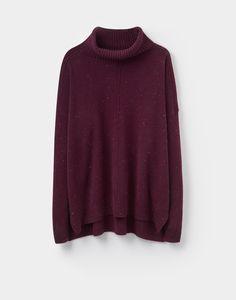 Rolanda Dark Plum Turtle Neck Sweater | Joules US