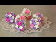 polymer clay flower balls master class Цветочные шары из полимерной глины Мастер класс - YouTube