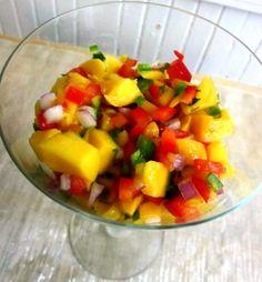 My Fresh Mango Salsa Recipe: How to Make Salsa: Easy Salsa Recipe Mexican Food Recipes, Healthy Recipes, Drink Recipes, Healthy Foods, Ethnic Recipes, Mango Salsa Recipes, How To Make Salsa, Clean Eating, Healthy Eating