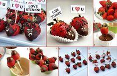 Fresas, Chocolate y mucho amor... ♥ - Little Kimono Handmade ❣